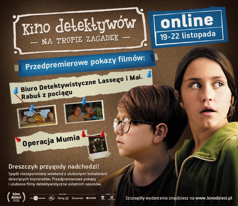 Kino detektywów online - długi weekend z Kinem Dzieci na tropie zagadek!
