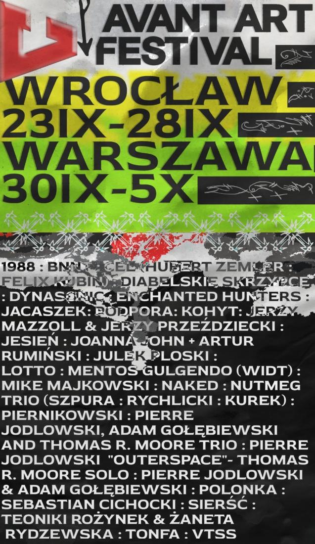 Avant Art Festival 2020 - Warszawa i Wrocław