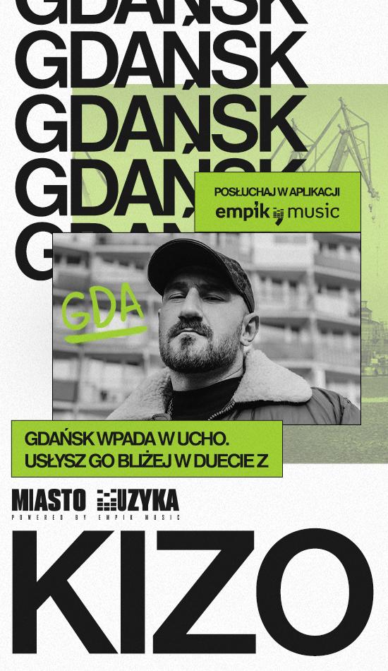 """Gdańsk wpada w ucho. Kizo i jego """"Akwen"""" drugim przystankiem Miasto Muzyka"""