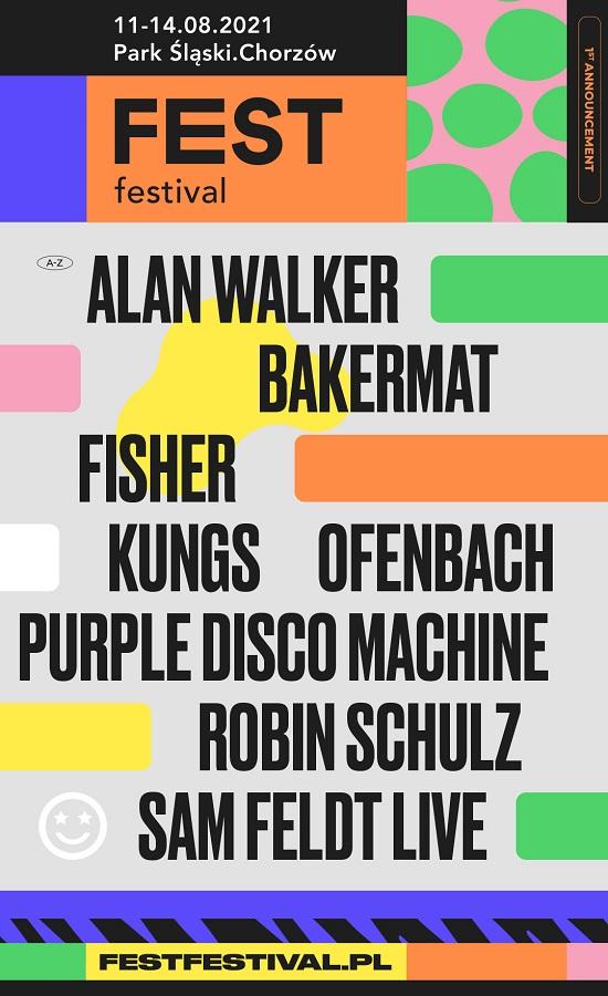 Pierwsze ogłoszenie FEST Festival 2021 - zagrają m. in. Kygo, Alan Walker i Robin Schulz