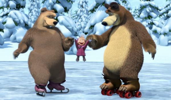 Going. | Masza i Niedźwiedź na lodzie
