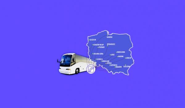 Going.   Kempobus - Łódz - Dworzec PKP Łódź Kaliska przy ul. Jana Pawła II