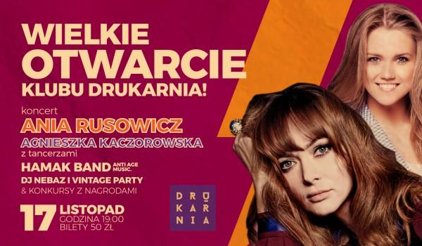 Going. | Ania Rusowicz - Drukarnia