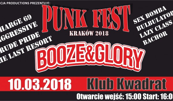 Going. | Punk Fest 2018 Booze & Glory, The Last Resort, Rude Pride i inni - Klub Studencki Kwadrat