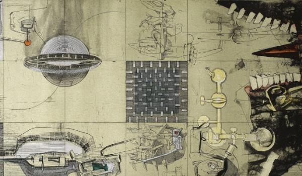 Going. | Sen Akwaforcisty - wystawa grafik Kacpra Bożka - Galeria ENGRAM