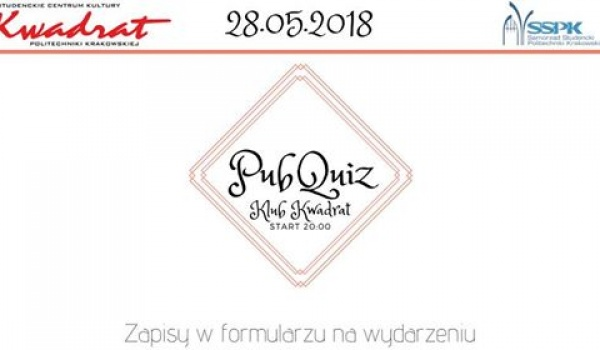 Going.   PubQuiz PK - Klub Studencki Kwadrat