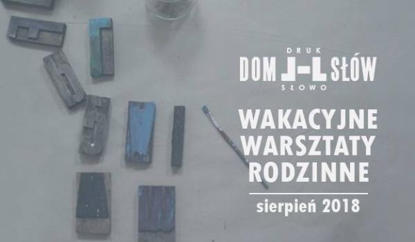 Going.   Wakacyjne warsztaty rodzinne / sierpień - Dom Słów