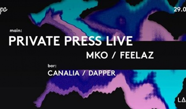 Going. | Private Press live / MKO / Feelaz & more - Projekt LAB