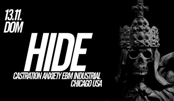 Going. | HIDE (USA) + GUESTS - DOM Łódź
