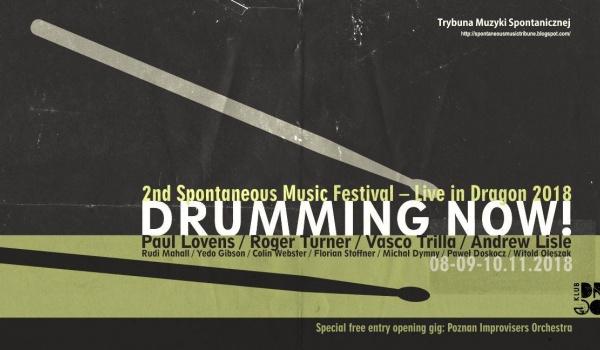 Going. | Drumming Now! Festiwal Muzyki Spontanicznej - Klub Dragon
