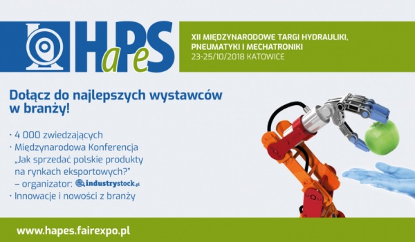 Going. | Międzynarodowe Targi Hydrauliki, Pneumatyki i Mechatroniki HaPeS - Międzynarodowe Centrum Kongresowe