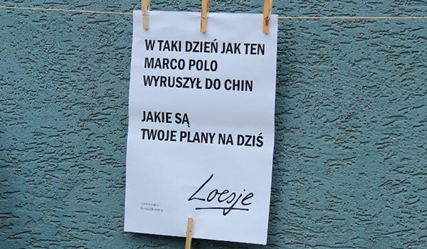 Going.   Loesje - świąteczna redakcja tekstów - Centrum Praskie Koneser
