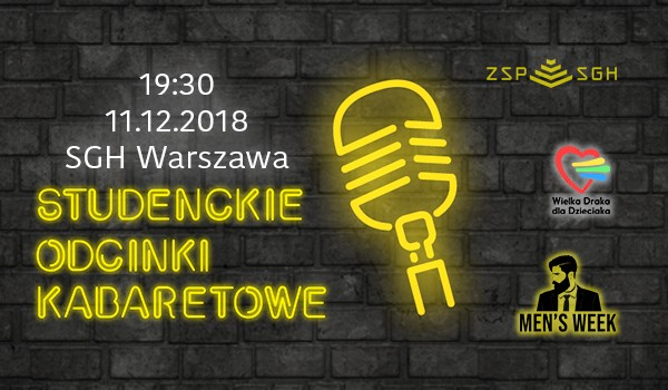Going. | Stand Up Night by SOK & Men's Week - Szkoła Główna Handlowa