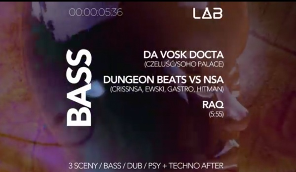 Going. | Sylwester 18/19: Nowy Semestr / PSY / DUB / BASS - Projekt LAB