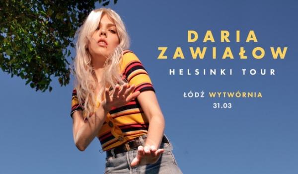 Going. | Daria Zawiałow | Helsinki Tour - Klub Wytwórnia
