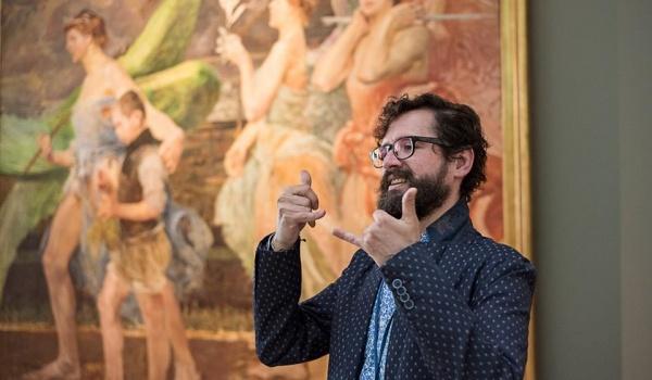 Going. | Sztuka Głuchych. Historia sztuki dla osób niesłyszących - Muzeum Śląskie