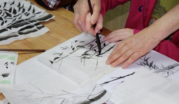 Going. | Suibokuga warsztaty malarstwa japońskiego - Indica Studio Galeria - Pracownia