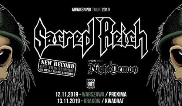 Going. | Sacred Reich + Night Demon - Klub Studencki Kwadrat