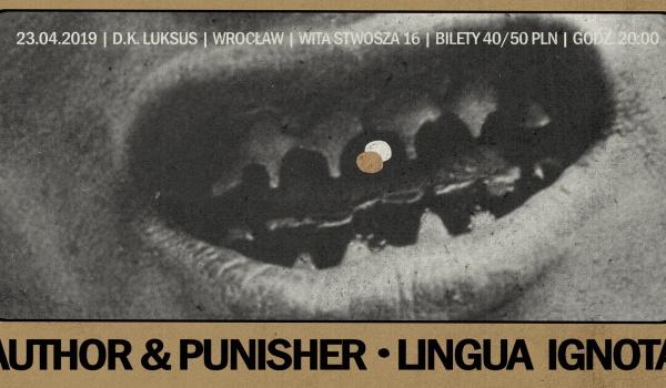 Going.   Author & Punisher, Lingua Ignota - D.K. Luksus