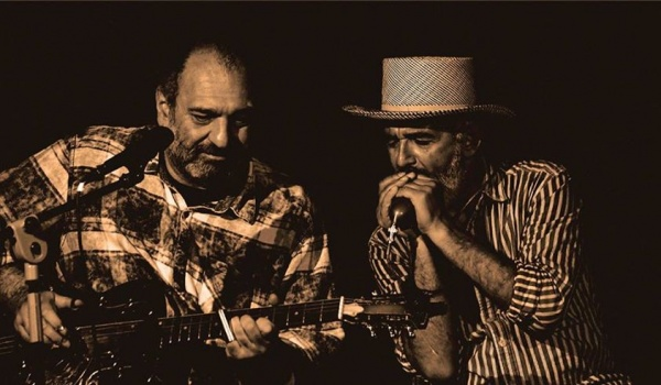 "Going.   Beppe ""Harmonica Slim"" Semeraro i PG Petricca / italian blues - Dom Literatury w Łodzi"