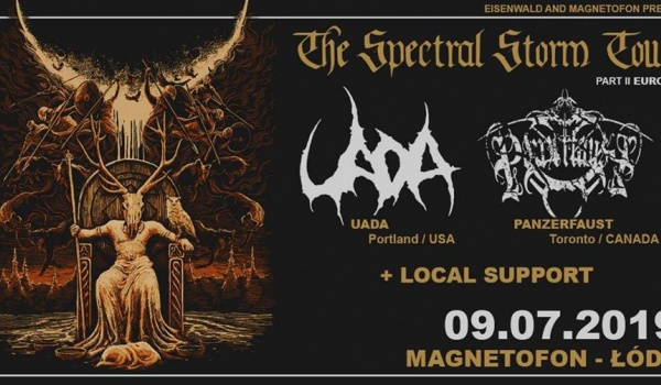 Going.   The Spectral Storm Tour: Uada & Panzerfaust   Łódź - Magnetofon