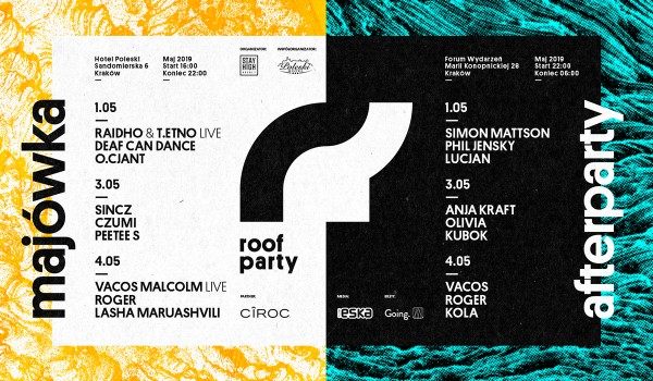 Going. | Roof Party & Afterparty: majówka 2019 - Miasto Kraków