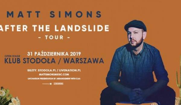 Going. | Matt Simons Official Event - Klub Stodoła
