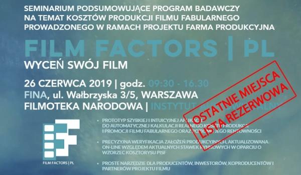 Going. | FILM Factors - algorytm kosztorysowania filmów - FINA Wałbrzyska 3/5