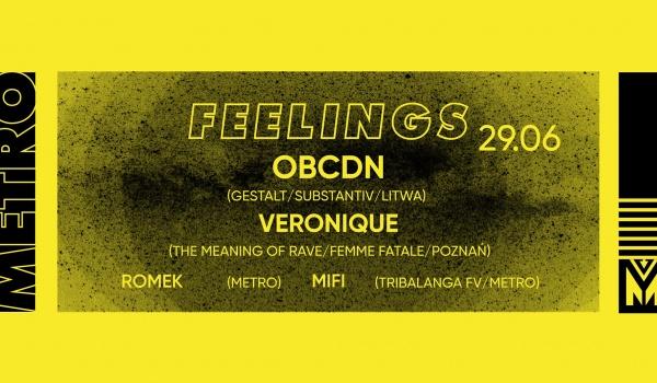 Going. | Feelings | OBCDN (Gestalt / Substantiv) LT - Klub Metro