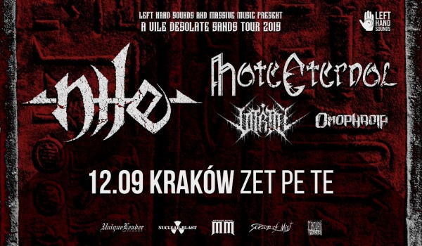 Going. | Nile, Hate Eternal | Kraków - Zet Pe Te