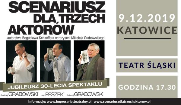 Going. | Scenariusz dla trzech aktorów - Teatr Śląski im. Stanisława Wyspiańskiego - Duża Scena