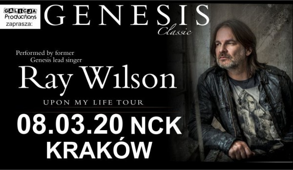 Going. | Ray Wilson - GENESIS Classic [SOLD OUT] - Nowohuckie Centrum Kultury