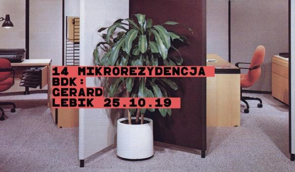 Going. | Mikrorezydencja BDK #14: Gerard Lebik - Jazz Club Hipnoza