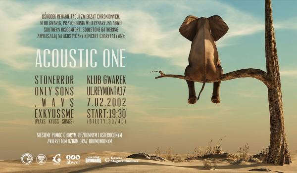 Going.   Acoustic One - koncert charytatywny - Klub Gwarek
