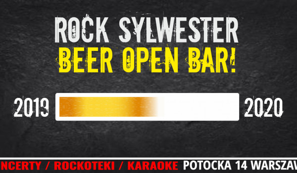 Going. | Rock Sylwester w Potoku: open bar na piwo! - Klub Potok