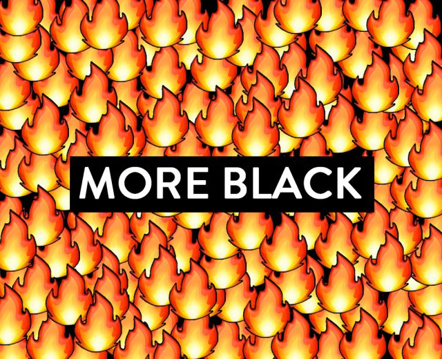 Going. | More black