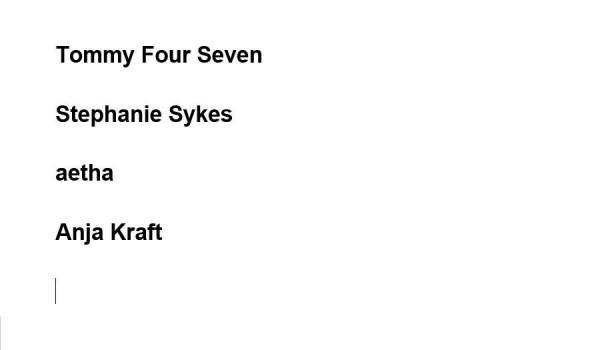 Going. | Tommy Four Seven, Stephanie Sykes, aetha, Anja Kraft - 999