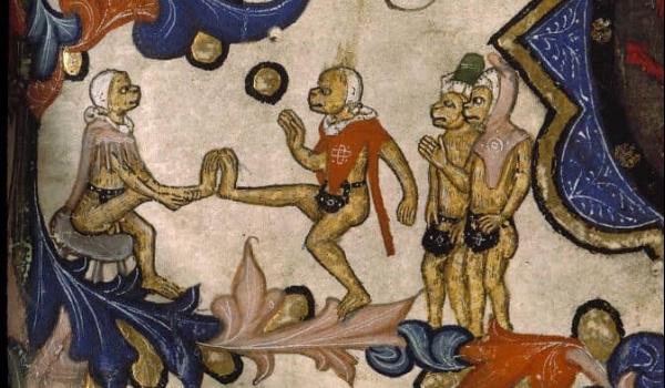 Going. | Małpy robią małpie figle. Groteska w kulturze średniowiecza - Instytut Kultury Polskiej