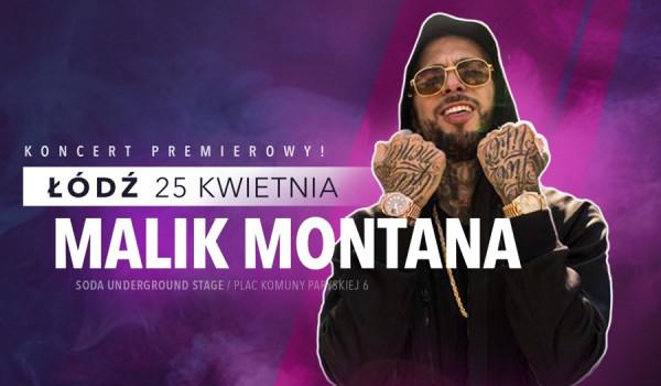 Going. | Malik Montana w Łodzi [ZMIANA DATY] - SODA Underground Stage