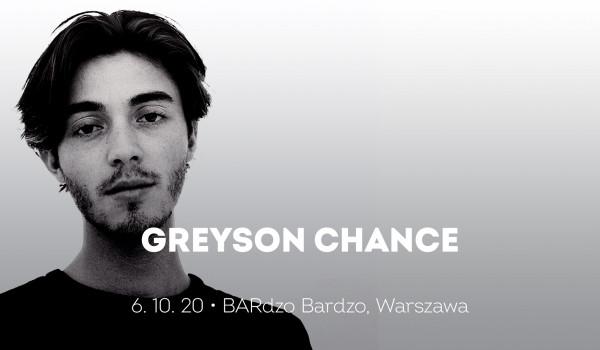 Greyson Chance | Warszawa [ODWOŁANE]