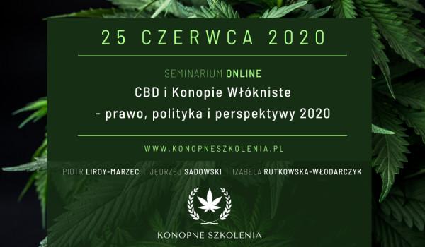 Going.   CBD i Konopie Włókniste - prawo, polityka, perspektywy 2020 [ZMIANA DATY] - Online