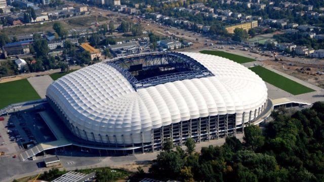 Skwer Play obok Stadionu Lech Poznań