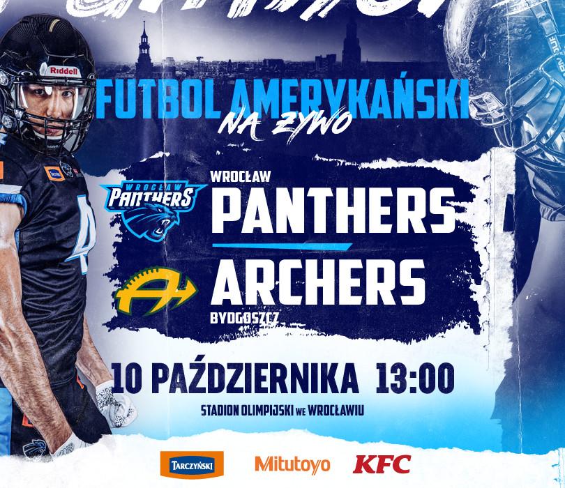 Mecz futbolu amerykańskiego Panthers Wrocław - Bydgoszcz Archers