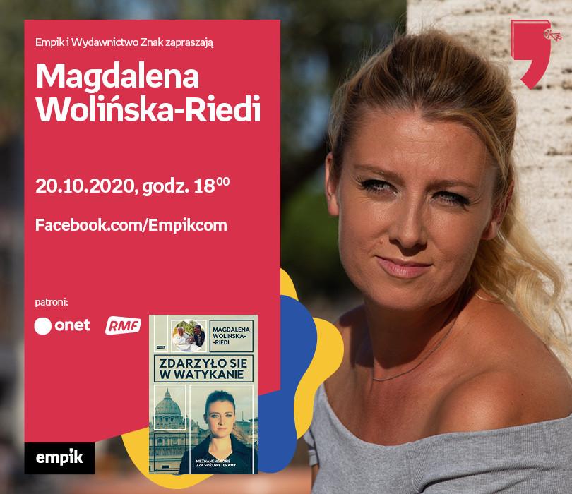 Magdalena Wolińska-Riedi – Premiera | Wirtualne Targi Książki