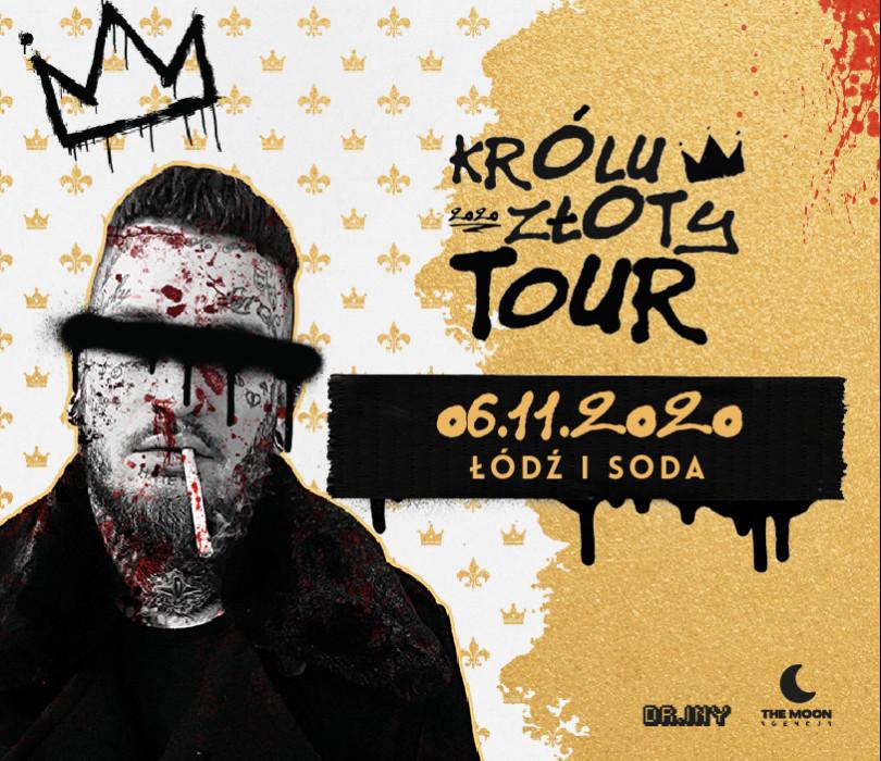 """Bonson """"Królu Złoty"""" - koncert premierowy / Łódź / SODA Underground Stage [ZMIANA DATY - TBA]"""