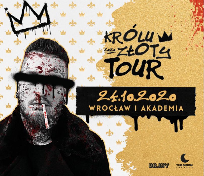 """Bonson """"Królu Złoty"""" - koncert premierowy / Wrocław / Akademia Club [ZMIANA DATY - TBA]"""
