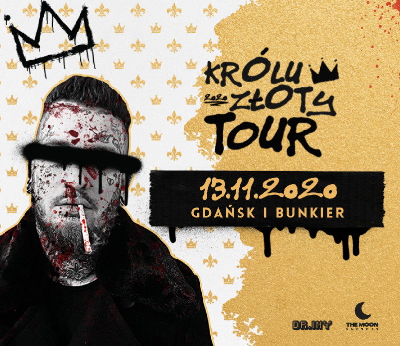 """Bonson """"Królu Złoty"""" - koncert premierowy / Gdańsk / Bunkier [ZMIANA DATY - TBA]"""