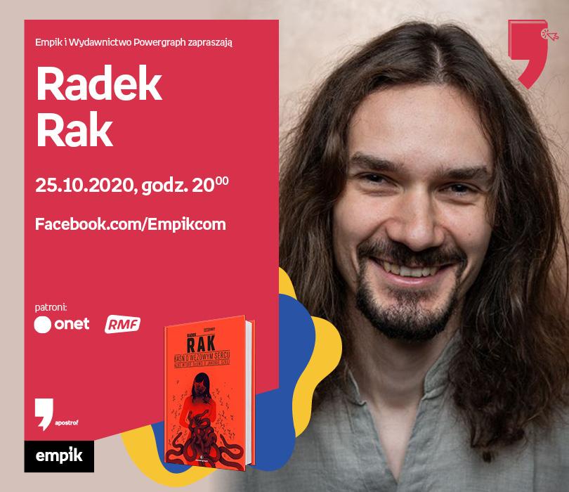 Radek Rak – Spotkanie | Wirtualne Targi Książki. Apostrof