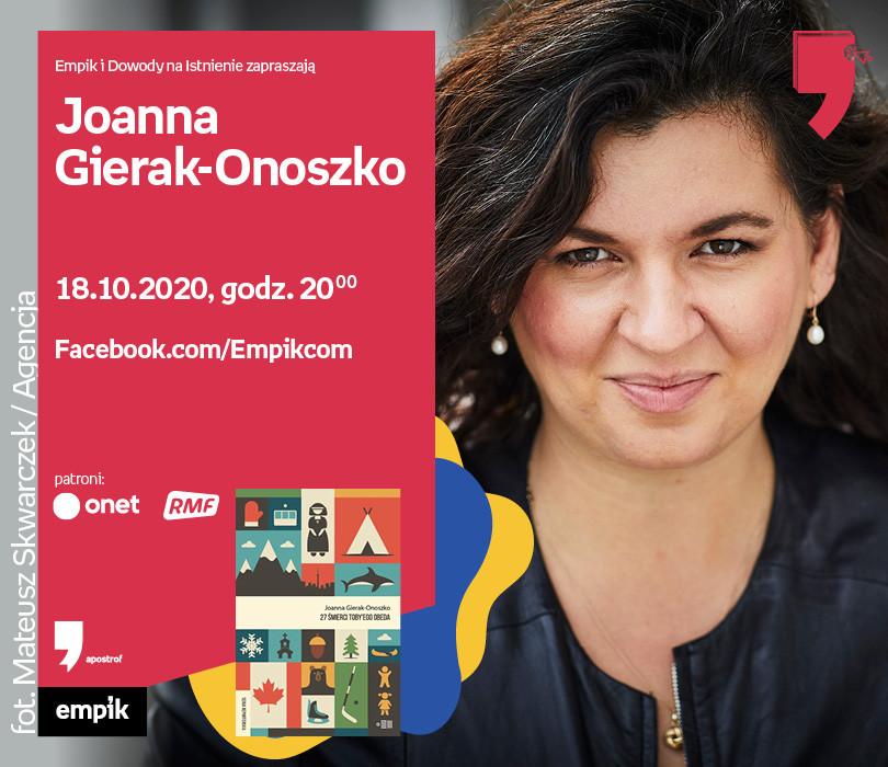 Joanna Gierak-Onoszko – Spotkanie   Wirtualne Targi Książki
